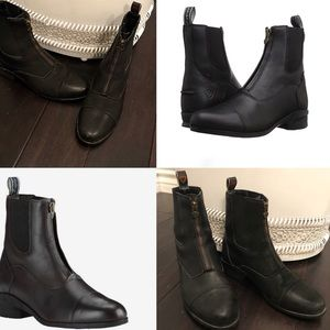 Ariat Black Ankle Boot Zipper Riding Bootie Boots